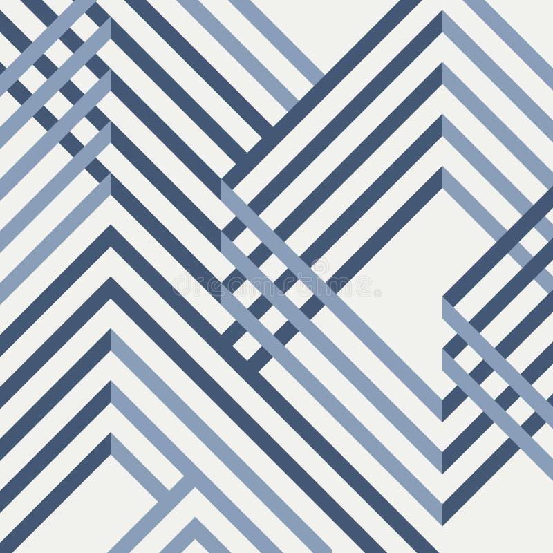 几何蓝色样式设计摘要  库存例证