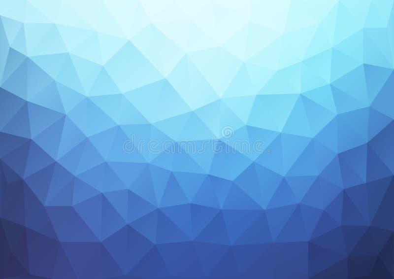 几何蓝色梯度的样式 向量例证