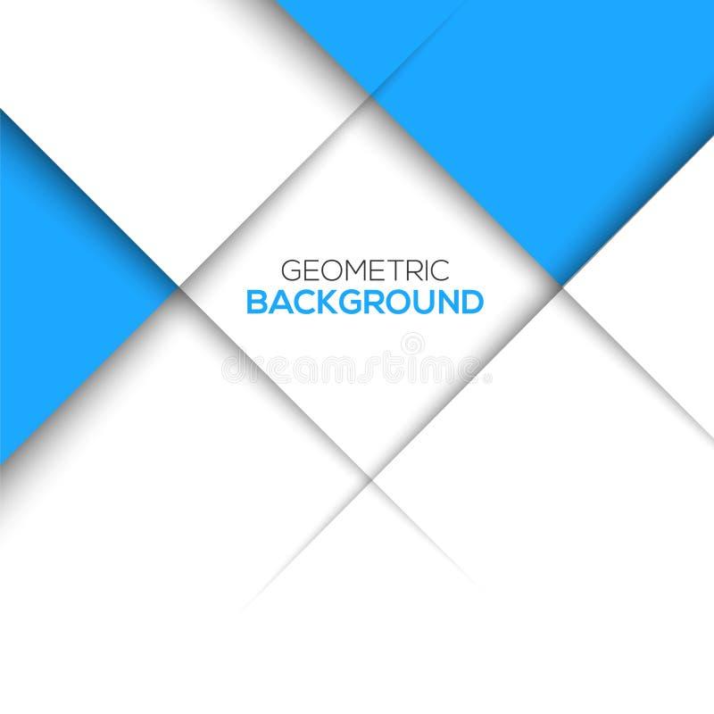 几何蓝色3D背景 皇族释放例证