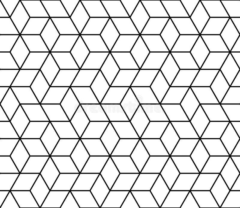 几何行家时尚设计印刷品3d求样式的立方 向量例证