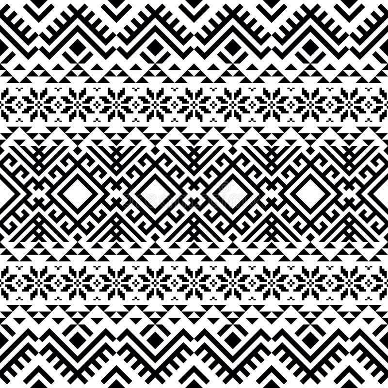几何部族图案设计 Pattern for Christmas design 皇族释放例证