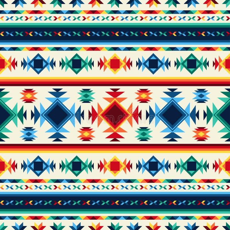 几何部族抽象无缝的样式的阿兹台克人 皇族释放例证