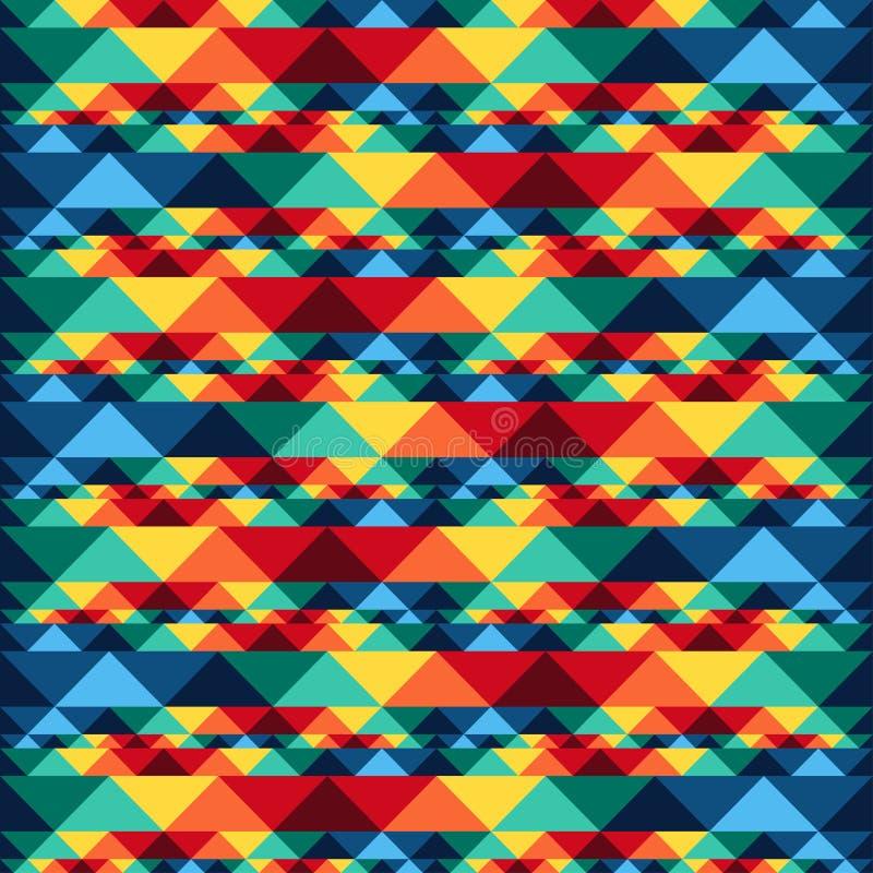 几何部族抽象无缝的样式的阿兹台克人 向量例证