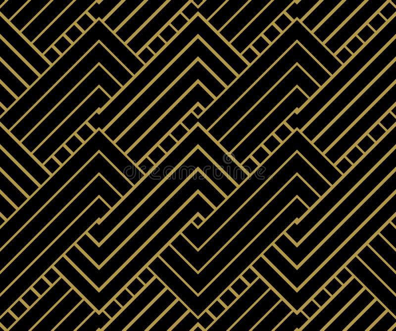 几何金子塑造背景 皇族释放例证