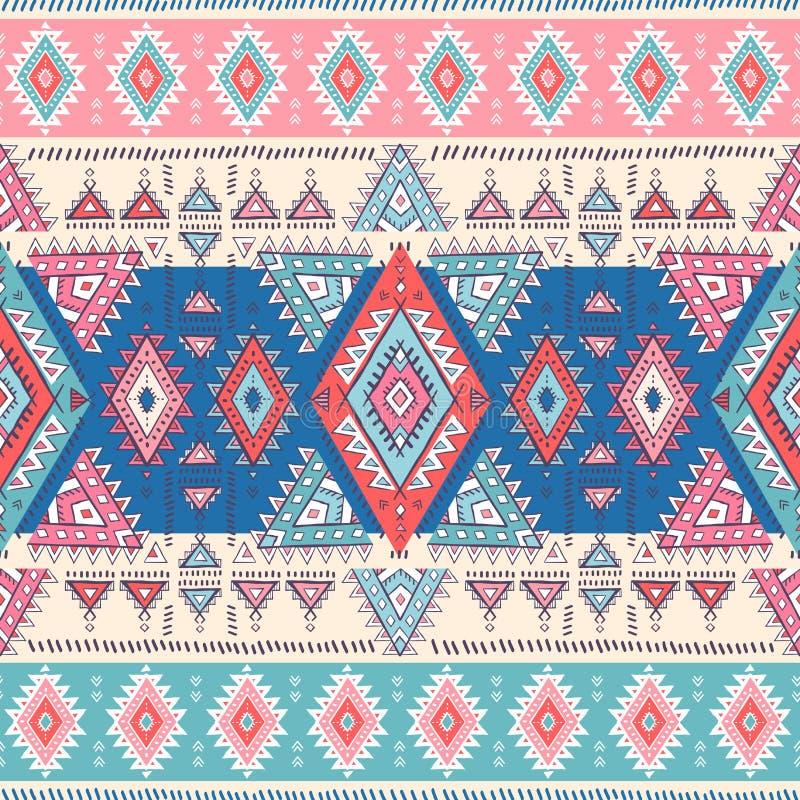 几何阿兹台克样式 部族纹身花刺样式可以为纺织品,瑜伽席子,电话盒,地毯使用 库存例证
