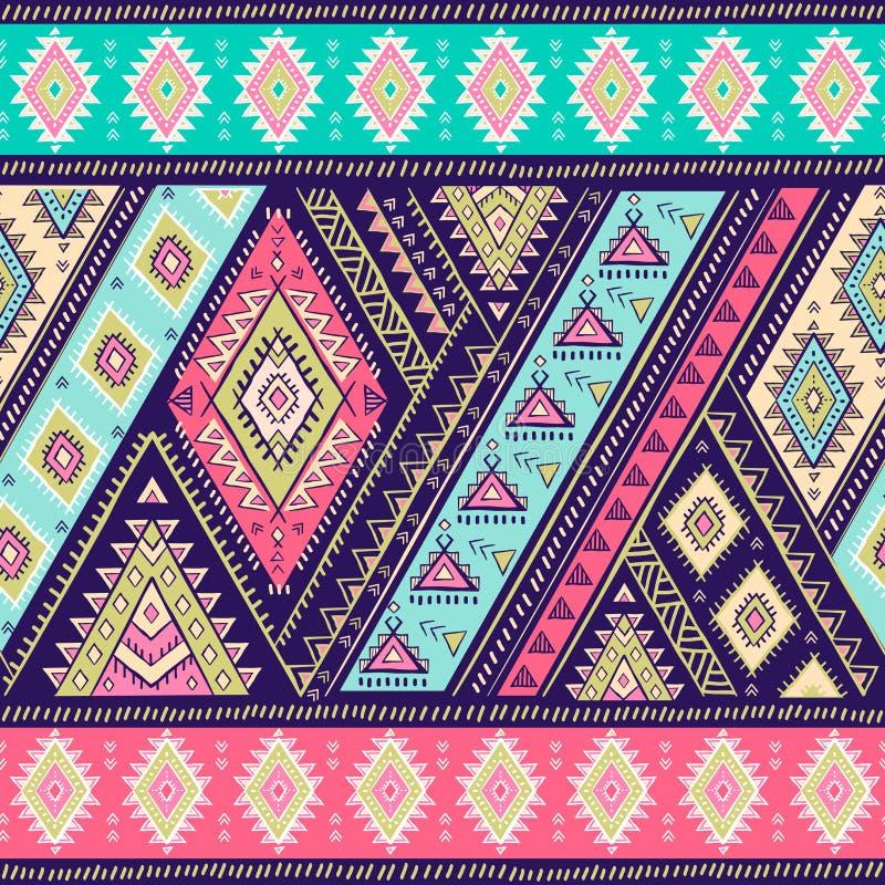 几何阿兹台克样式 部族纹身花刺样式可以为纺织品,瑜伽席子,电话盒,地毯使用 皇族释放例证