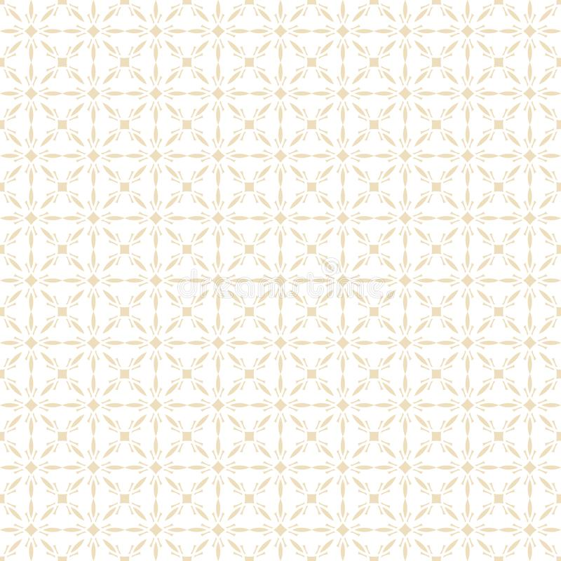 几何阿拉伯无缝的样式 伊斯兰纹理 金黄回教装饰品背景 皇族释放例证