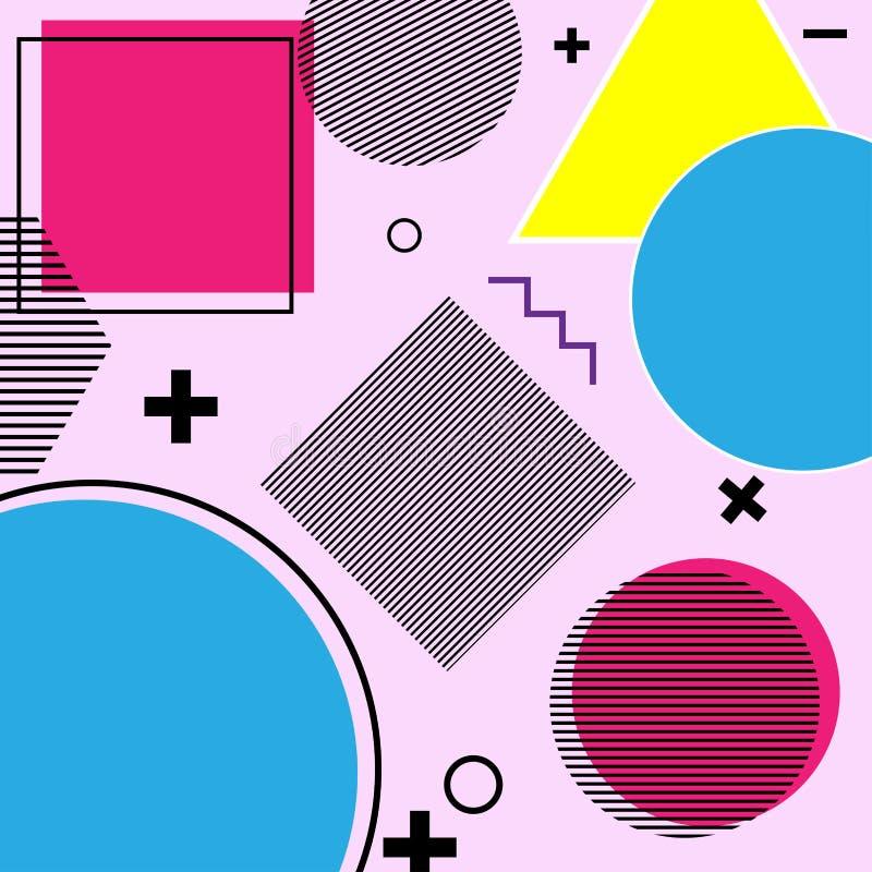 几何颜色和标志 库存图片