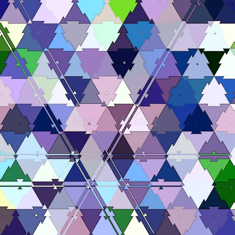 几何马赛克三角重复伪装样式背景 皇族释放例证