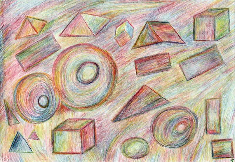 几何,技术图画,空间 免版税库存照片