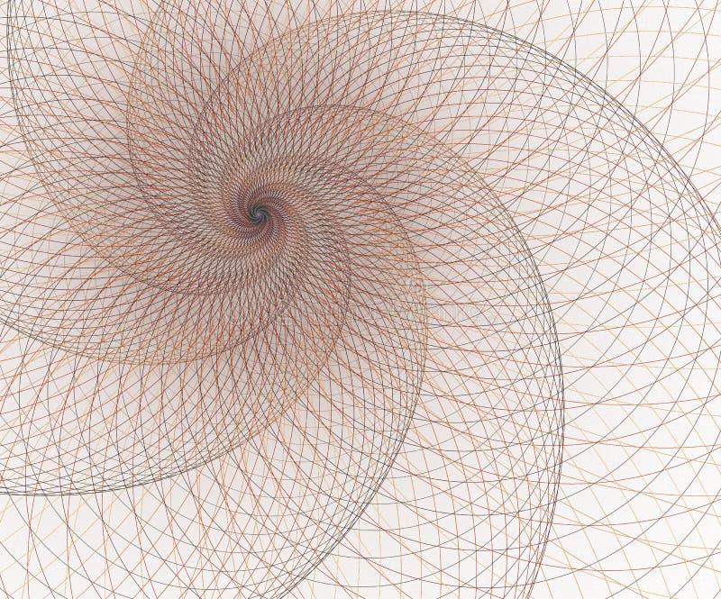 几何,滤网元素 交叉点曲线 超现实的未来派设计 库存例证