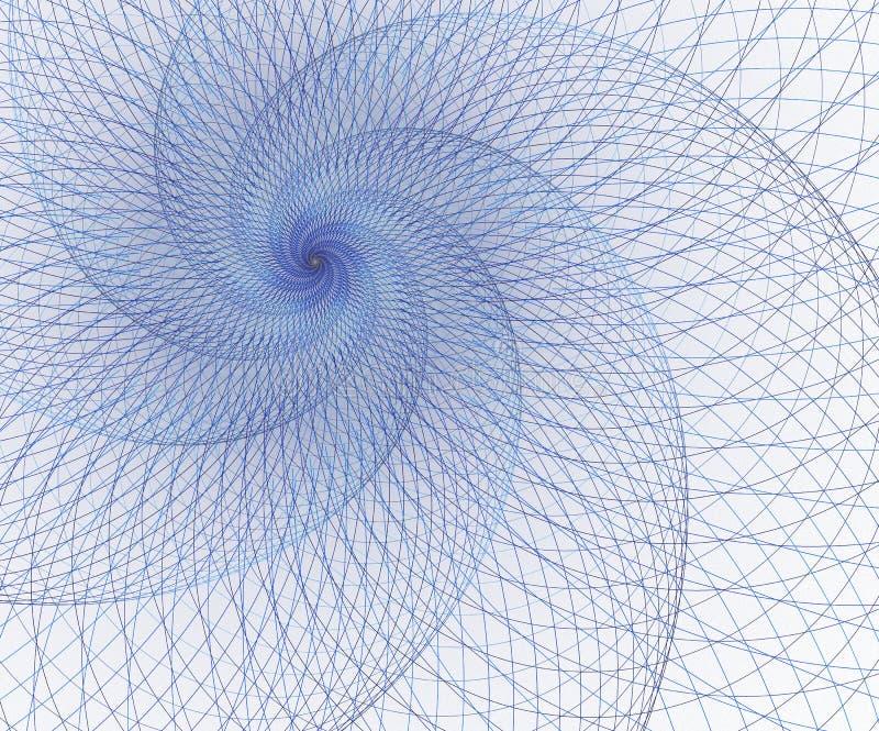 几何,滤网元素 交叉点曲线 超现实的未来派设计 皇族释放例证