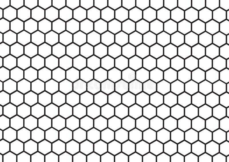 几何黑白蜂窝的摘要 向量例证