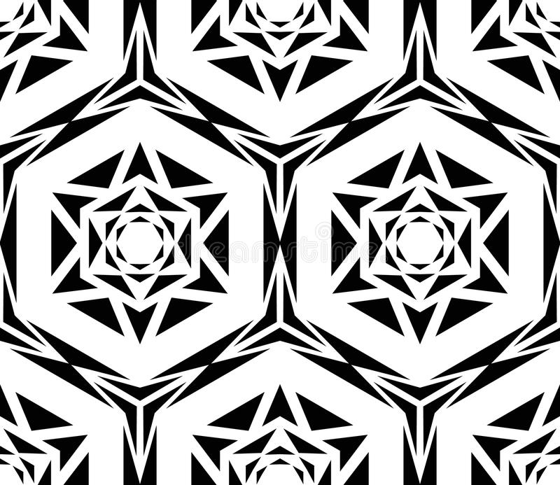 几何黑罗斯样式 库存例证