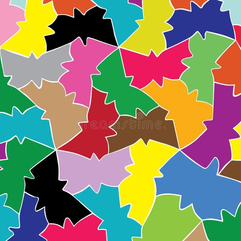 几何蝴蝶的爱样式 库存例证