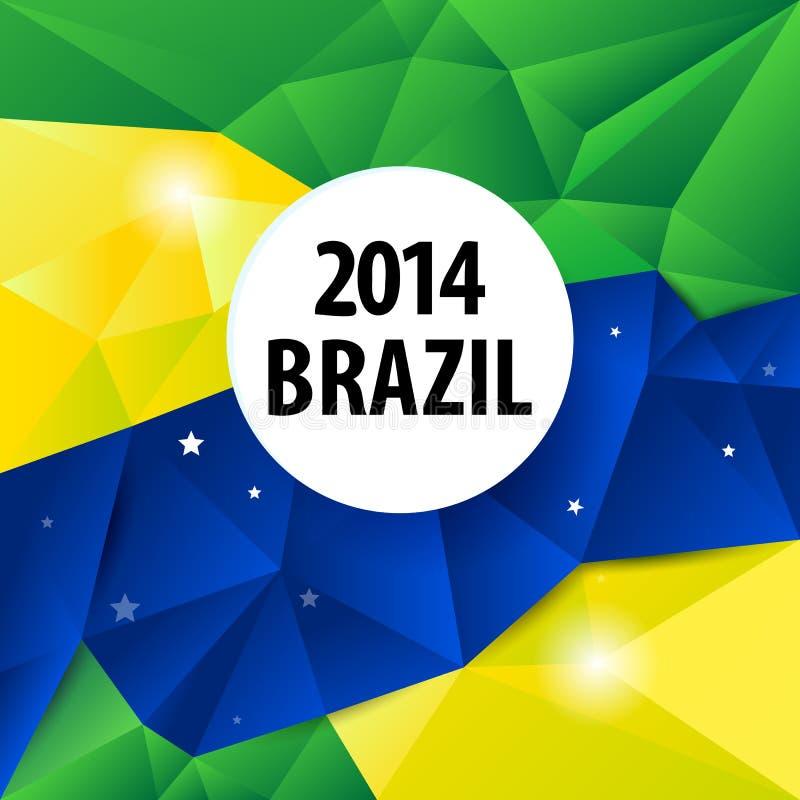 几何巴西2014年背景 库存例证