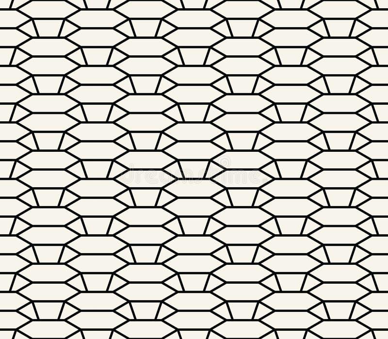 几何3d安心概述六角形栅格纹理样式 向量例证