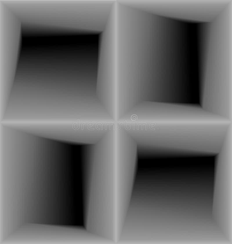 几何3d无缝的样式,抽象背景 库存例证