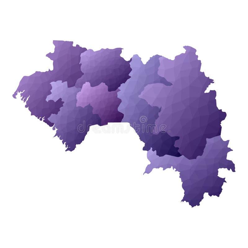 几内亚地图 皇族释放例证