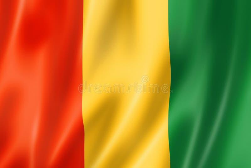 几内亚旗子 向量例证