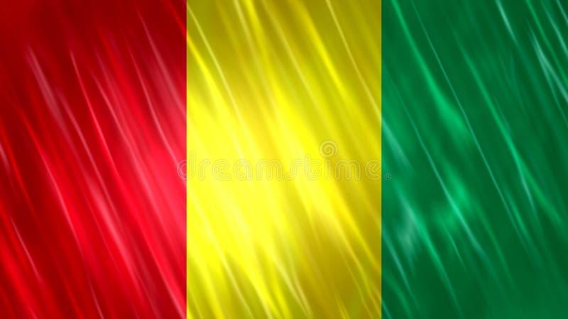 几内亚旗子 皇族释放例证