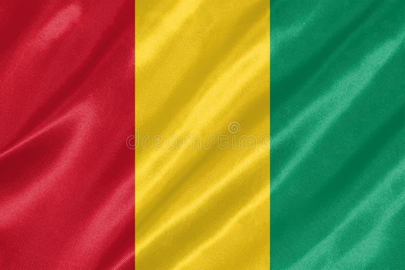 几内亚旗子 库存例证
