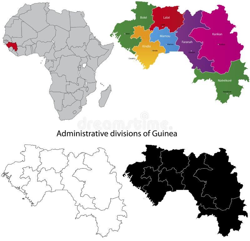 几内亚映射 库存例证