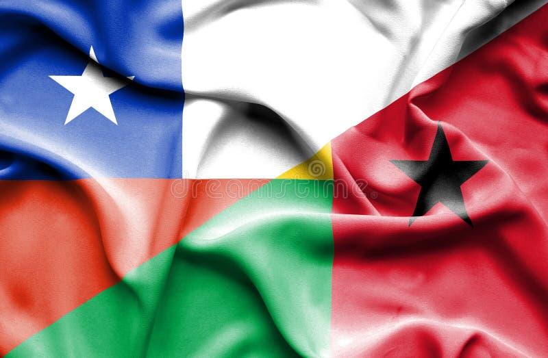 几内亚比绍和智利的挥动的旗子 皇族释放例证