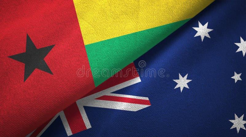 几内亚比绍和澳大利亚两旗子纺织品布料,织品纹理 皇族释放例证