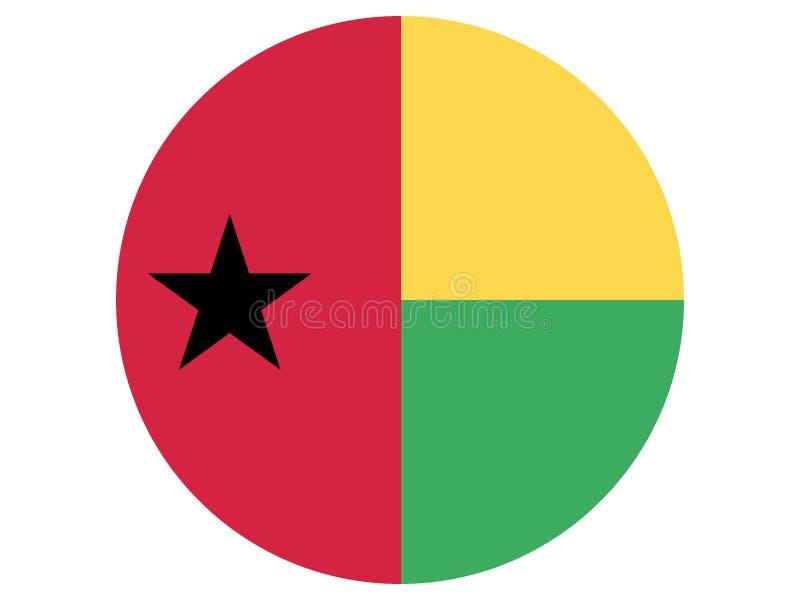 几内亚比绍的圆的旗子 向量例证