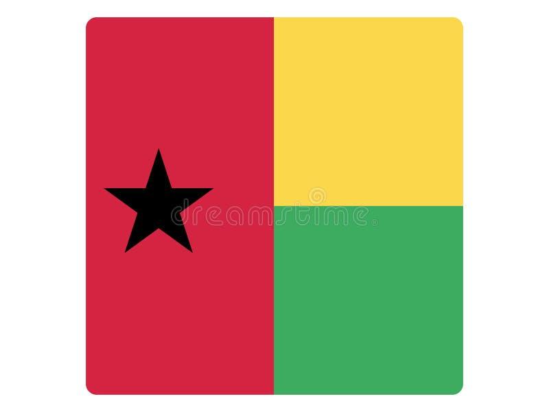 几内亚比绍的方形的旗子 库存例证