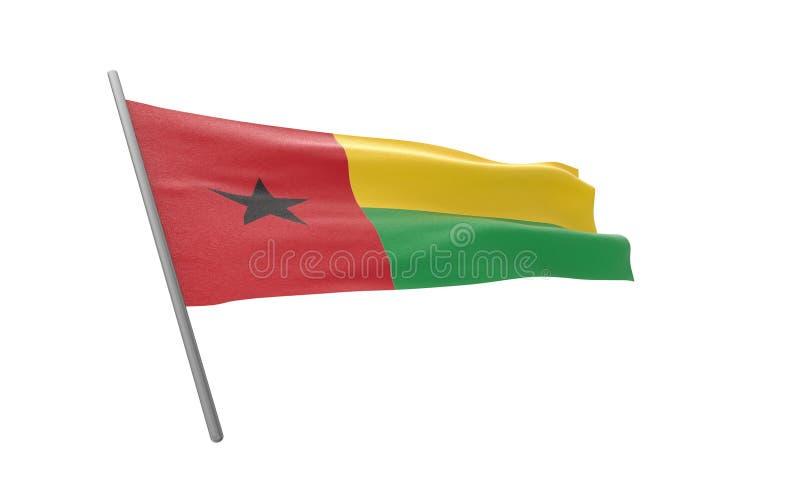 几内亚比绍的旗子 库存例证