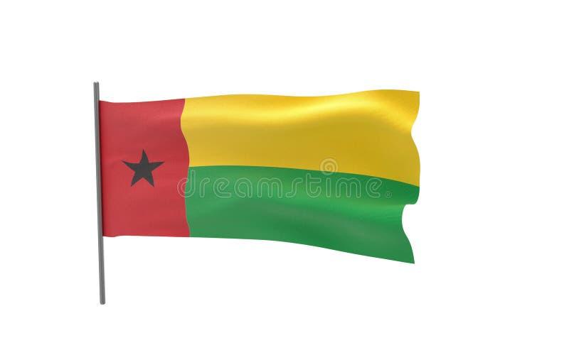 几内亚比绍的旗子 向量例证