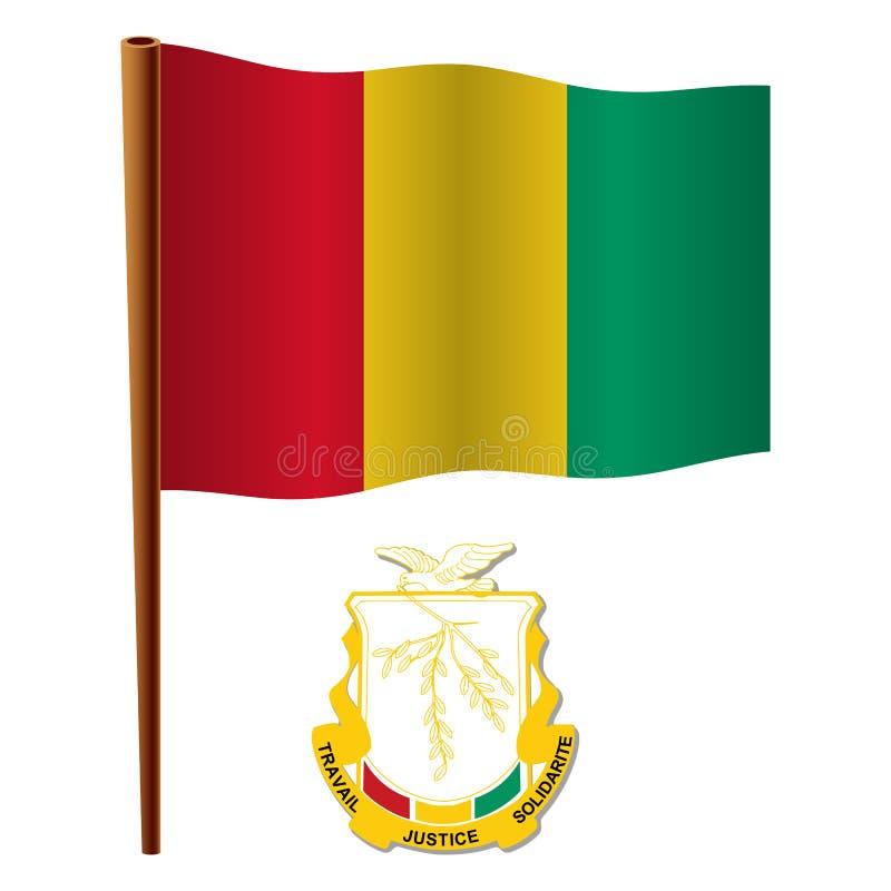 几内亚波浪旗子 皇族释放例证