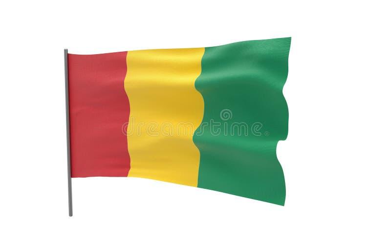 几内亚的旗子 皇族释放例证