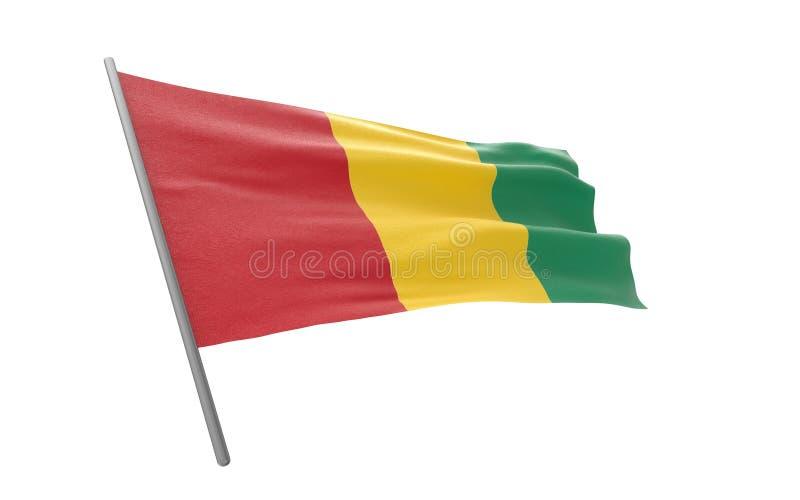 几内亚的旗子 库存例证