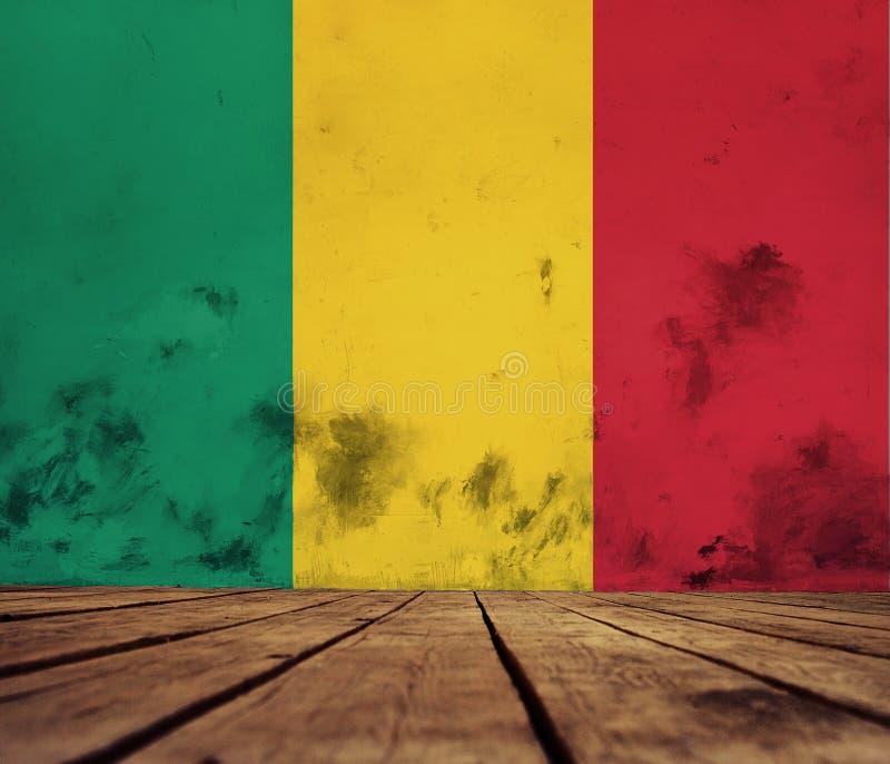 几内亚的旗子 向量例证