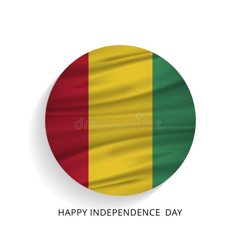 几内亚美国独立日爱国设计 日愉快的独立 库存例证