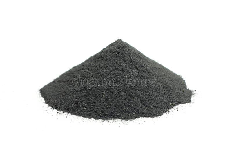 几块搽粉的木炭 库存照片