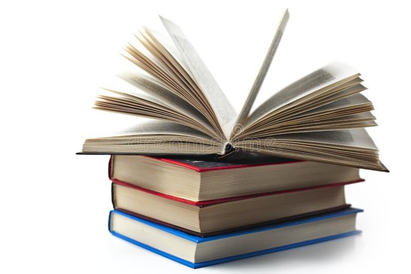 几本书,白色背景 免版税图库摄影