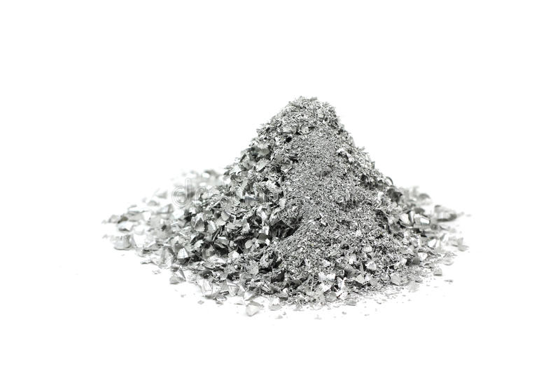 几粒银色粉末 免版税库存照片