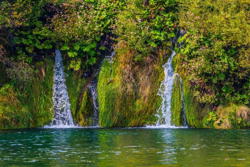 几美丽如画的瀑布 免版税图库摄影
