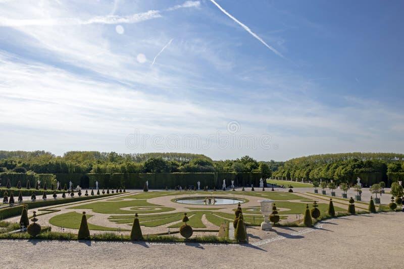 凡尔赛、历史纪念碑和联合国科教文组织世界遗产名录站点奥斯陆王宫  免版税库存图片