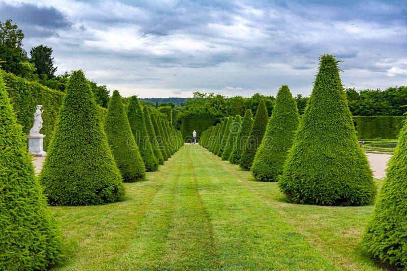 凡尔赛规则式园林,巴黎,法国 免版税库存照片