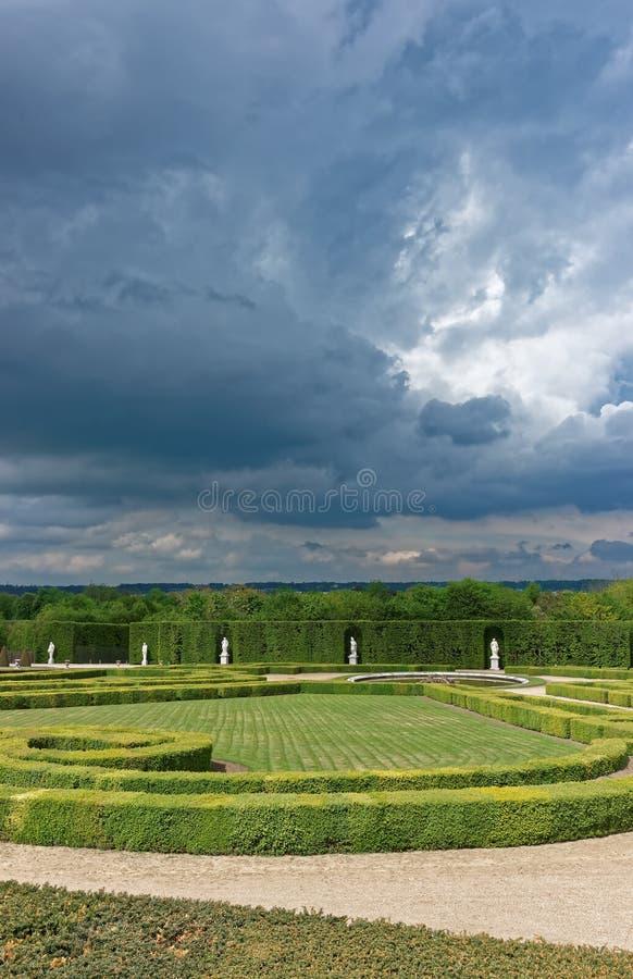 凡尔赛Orangerie公园在巴黎在法国 免版税库存照片