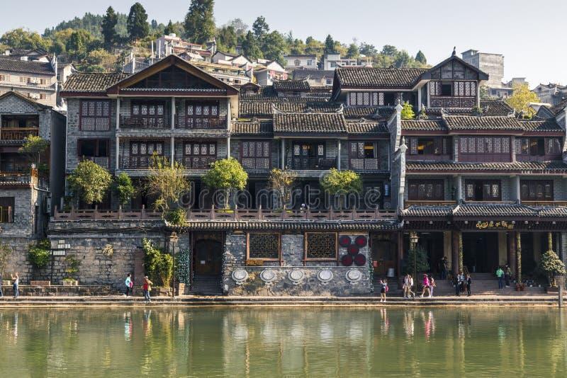 凤凰县,湖南,中国老镇  免版税库存图片