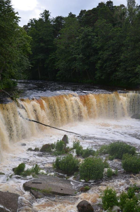 凯伊拉瀑布,爱沙尼亚 免版税库存照片