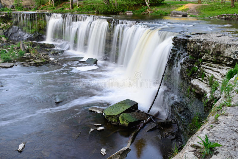 凯伊拉Joa瀑布长的曝光 库存图片