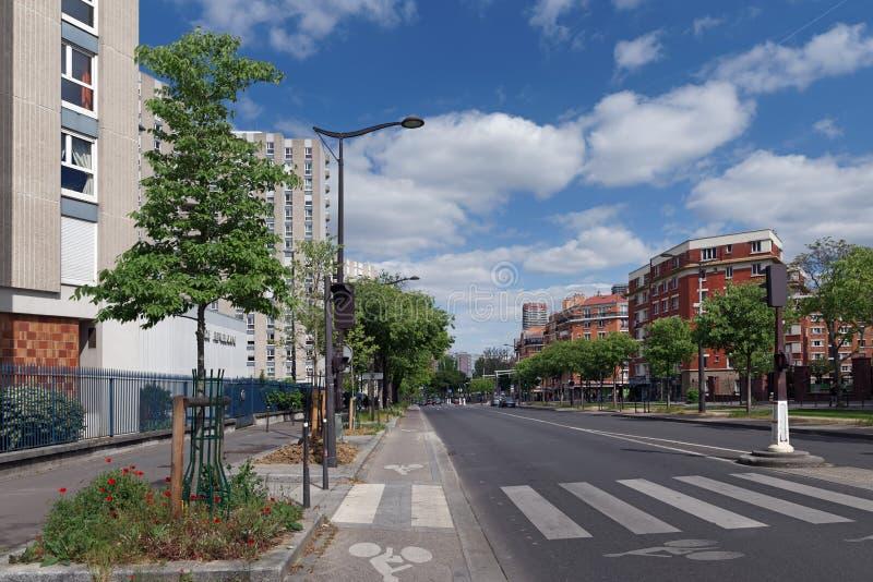 凯勒曼Marechaux大道在巴黎 库存图片