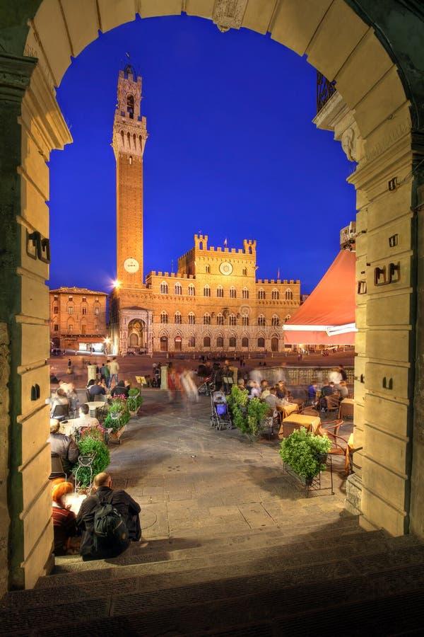 凯姆帕del意大利广场siena 库存照片